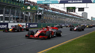 Imagen de la salida del Gran Premio de Australia de 2018.