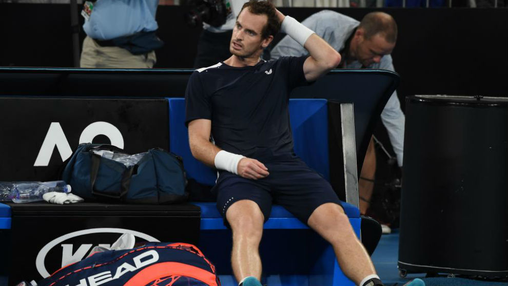Murray, sentado en la silla de cambios