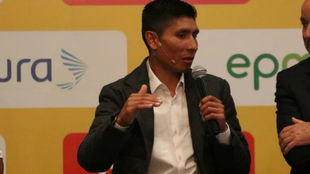 Nairo Quintana interviene en la presentación del Tour Colombia 2.1
