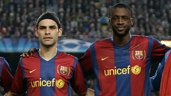 El mexicano y el africano compartieron el vestuario del Barcelona