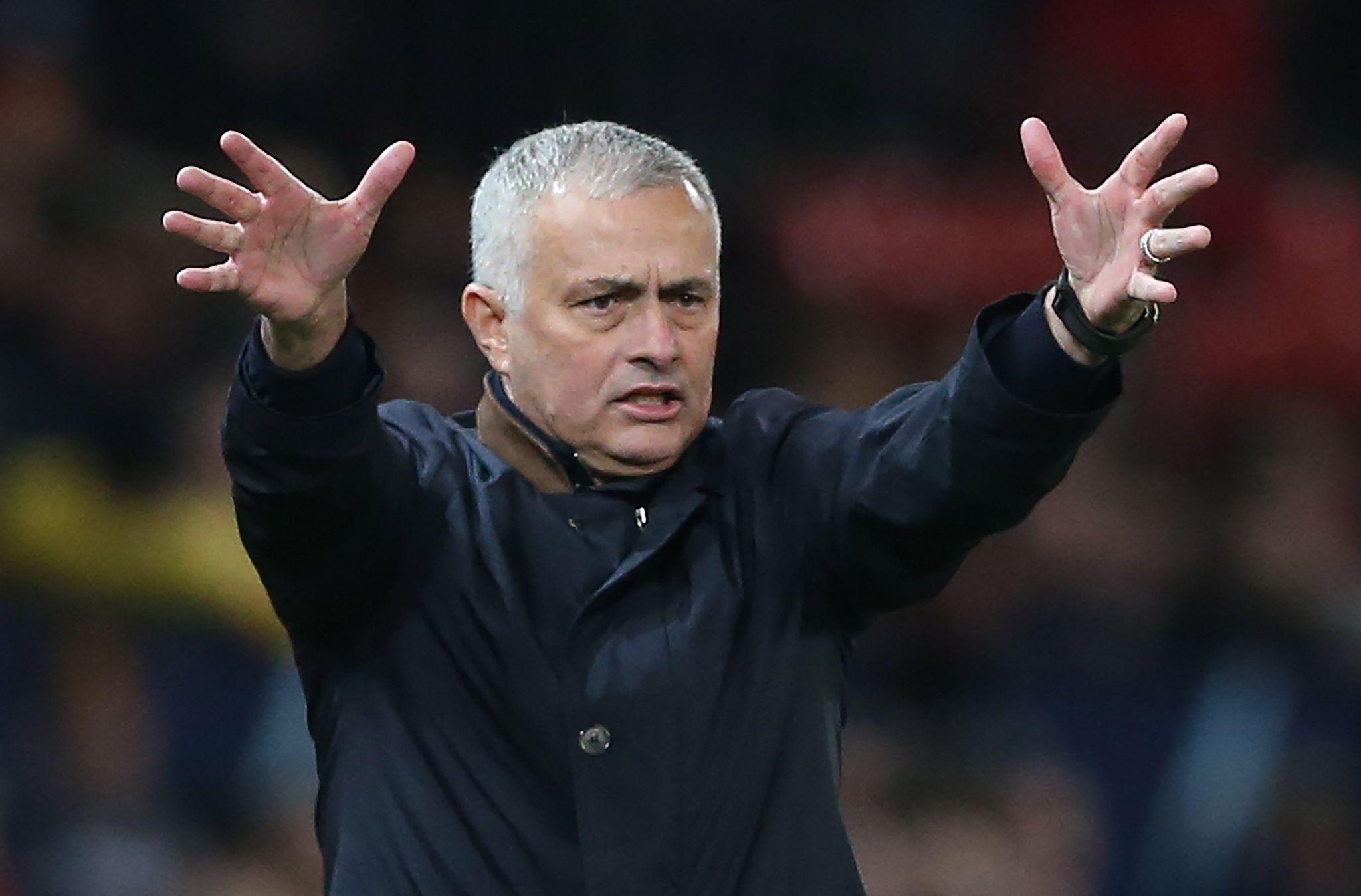 Jose Mourinho como entrenador del Manchester United