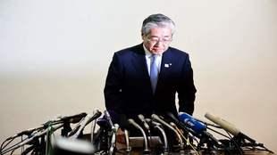 Tsunekazu Takeda, ante los medios