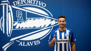 Jony a su llegada este verano al Alavés en calidad de cedido.