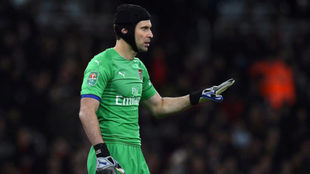 Cech, con el Arsenal.