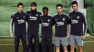 Barcelona Hit The Training Pitch With Five Team Players
