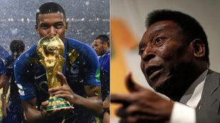 Mbappé y Pelé.