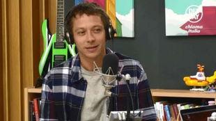 Rossi, durante la grabación del programa.