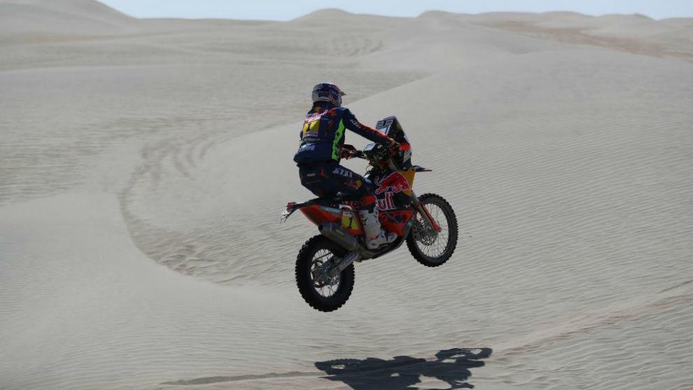 Matthias Walkner, en Perú.
