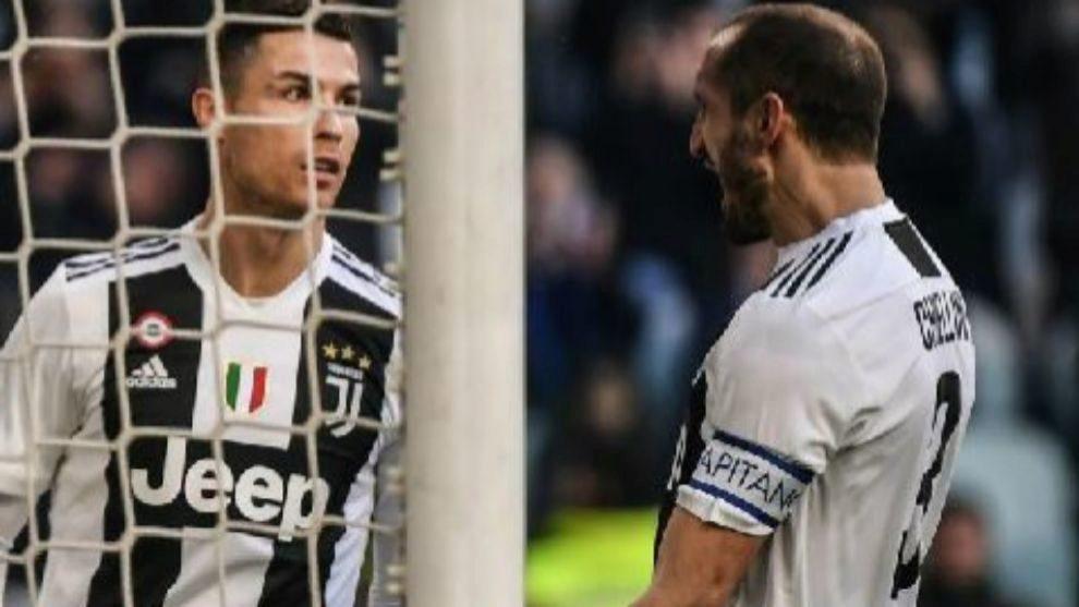 Cristiano Ronaldo and Chiellini.