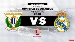 Leganes vs Real Madrid: Probable line-ups.