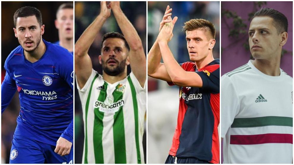 Tuesday's transfer news: Hazard, Piatek, Cech, Chicharito