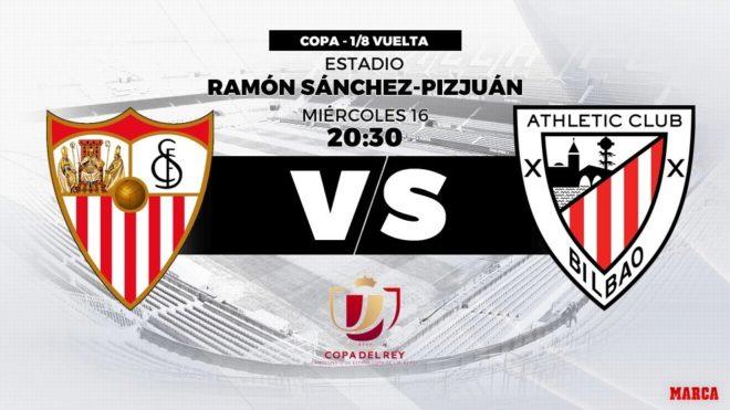Sevilla y Athletic se juegan su pase a la siguiente fase de Copa del...