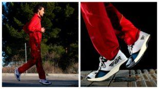 Jesús España, con las zapatillas FBR