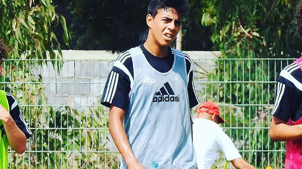 El joven Chadi Riad, durante un entrenamiento
