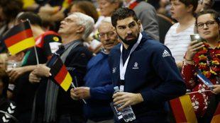 Nikola Karabatic, espectador en el partido Alemania-Francia del...