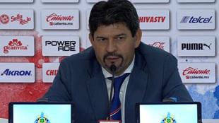 Cardozo en conferencia de prensa tras el partido de Copa ante...