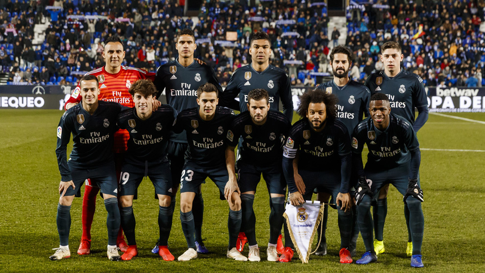 The eleven that started against Leganes.