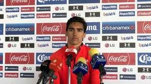 Diego Abella en conferencia de prensa