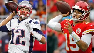 Tom Brady y Patrick Mahomes.