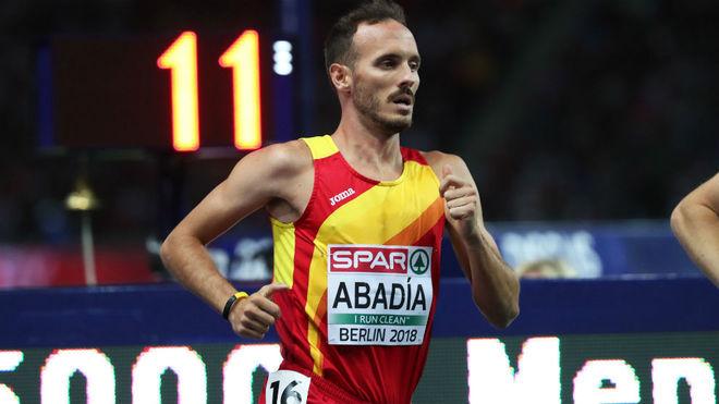 Toni Abadía, durante un campeonato