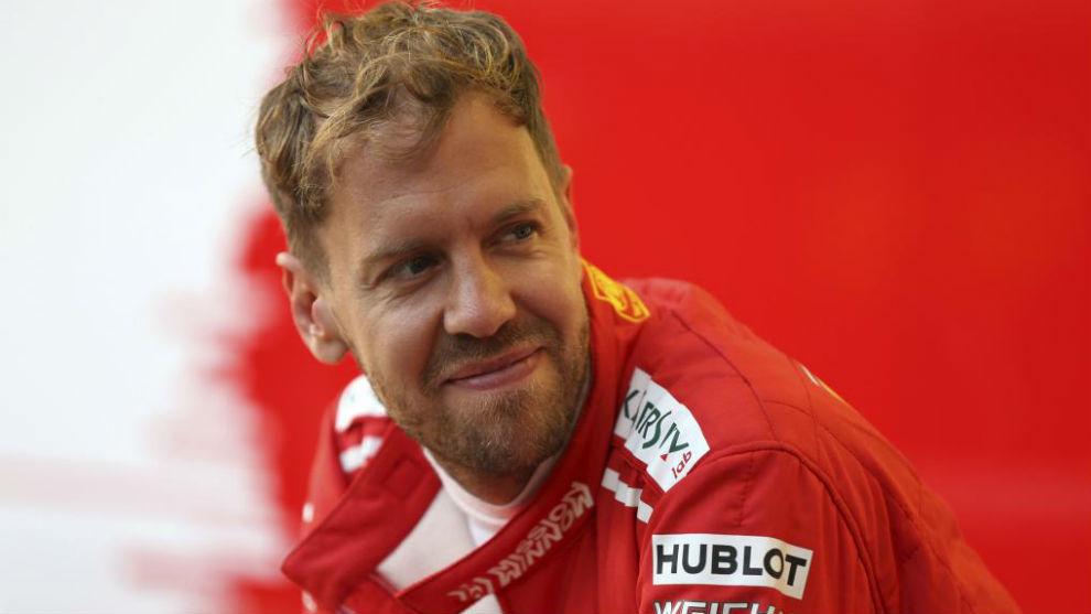 Sebastian Vettel, en el GP de Abu Dabi 2018.