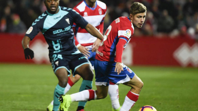 Pozo, en un partido de Liga frente al Albacete.