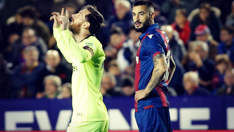 Messi ha marcado 19 goles en 17 partidos al Levante.