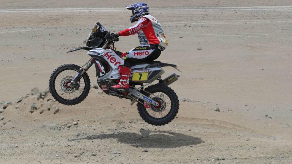 Oriol Mena, durante esta edición del Dakar.