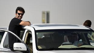 Buffon, durante el 'stage' del PSG en Qatar.