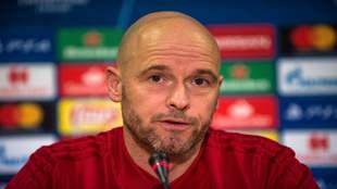 Erik Ten Hag, entrenador del Ajax, en una rueda de prensa.