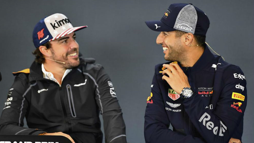 Ricciardo, junto a Fernando Alonso