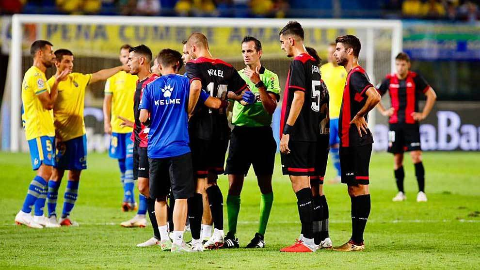 Una imagen del partido de la primera jornada liguera entre UD y Reus