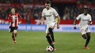 Munir, en el partido ante el Athletic de la Copa.