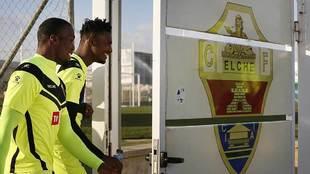 Florentin Pogba junto a Sory Kaba durante un entrenamiento de la...
