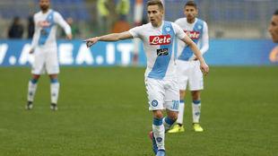 Marko Rog, en un partido con el Nápoles.