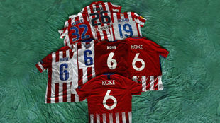Del 26 del debut al 6 actual, todos los dorsales de Koke en el...