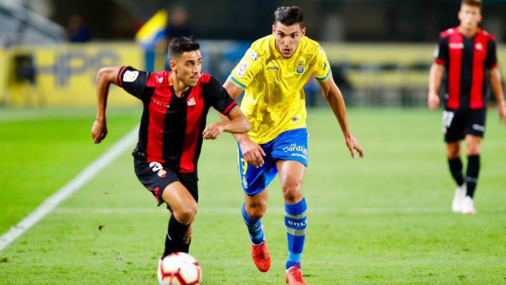 Lance del partido de la ida entre Las Palmas-Reus