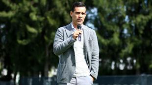 Márquez, durante la presentación de los nuevos refuerzos del Atlas...