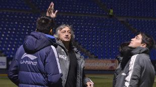 El cuerpo técnico del Tata Martino visitan el estadio Cuauhtémoc