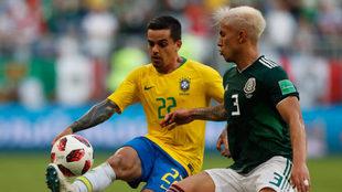 Salcedo, en un partido de la Copa del Mundo.