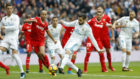 Nacho marca ante el Sevilla en la Liga 17-18
