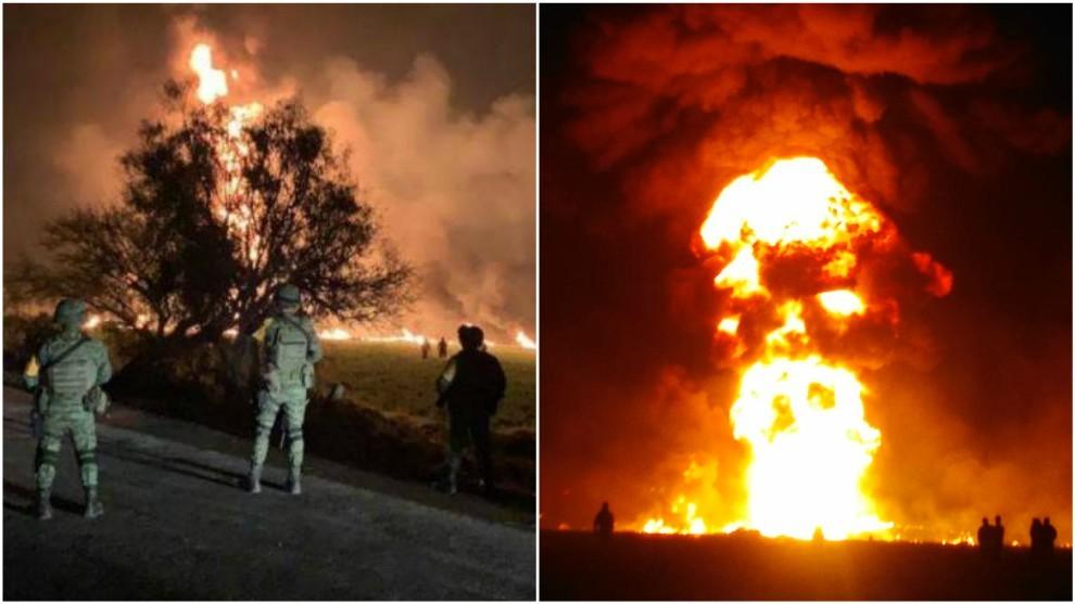Resultado de imagen para explosion tlahuelilpan