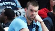 Marc Gasol en el banquillo de los Grizzlies