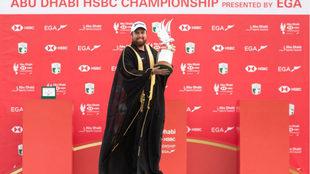 Shane Lowry, con el trofeo de ganador