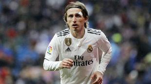 Luka Modric, durante el partido ante el Sevilla.