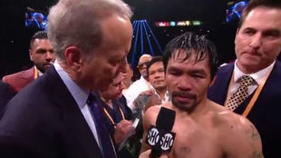 Pacquiao responde a Jim Gray tras ganar a Broner.