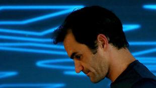 Federer, en rueda de prensa