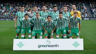 Once del Betis frente al Girona