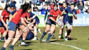 Una imagen del partido disputado por las 'Leonas' frente al XV del...