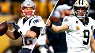 Tom Brady y Drew Brees sería lo más llamativo del encuentro